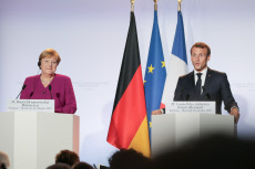 Franco-German Ministers Council in Toulouse with President Emmanuel Macron and Chancellor Angela Merkel.