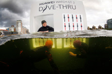 Huawei Launch World's First 'Dive-Thru', London, UK - 17 Oct 2019