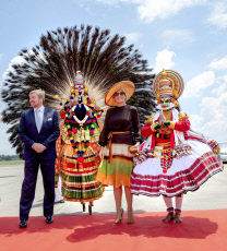 17-10-2019 Kerala Queen Maxima and King Willem-Alexander arriving at Cochin International Airport on the 4th day of the 5 day statevisit to Kochi, India.
