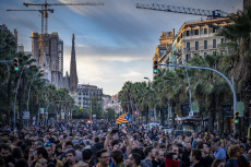 Independence protest against Court sentences in Barcelona, Spain - 16 Oct 2019