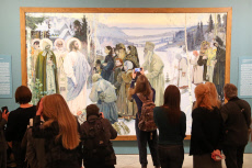 Russia: Mikhail Nesterov's restored painting Holy Rus on display in St Petersburg