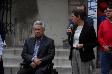 Ecuador's President visits zone affected by protests