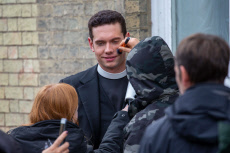 'Granchester' TV show on set filming, Cambridge, Cambridgeshire, UK - 16 Oct 2019