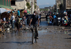 Traces of a life that seems normal in the midst of a crisis that consumes Port-au-Prince