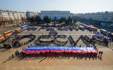 """Ukraine: Flashmob """"We Want to Be in Russia"""" in Lugansk, east Ukraine"""