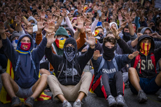 Protest after Supreme Court sentence in Barcelona, Spain - 18 Oct 2019