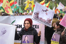 Netherlands: Demonstration in Support of Kurds People in Amsterdam
