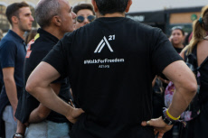 Walk for Freedom parade in Athens, Greece -19 Oct 2019
