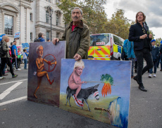 Pro and Anti Brexit protest, London, UK - 19 Oct 2019