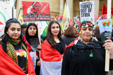 Stop The Turkish Invasion of Syria Protest, London, UK - 20 Oct 2019