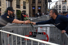 Citizens reward the work of the National Police in Barcelona, Spain - 19 Oct 2019