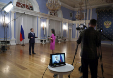 Russia: Russian Prime Minister Medvedev gives interview to Rossiya 24 Channel