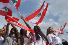 LEBANON-DEMONSTRATION-PROTESTERS