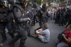 Protest after Supreme Court sentence in Barcelona, Spain - 19 Oct 2019