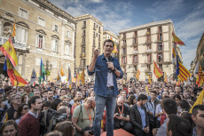 The center-right party of Ciudadanos vindicates justice and coexistence in Barcelona, Spain - 20 Oct 2019