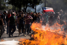 New day of protest in Santiago, Chile
