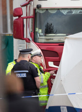 Bodies of 39 people found in a lorry container, Grays, Essex, UK - 23 Oct 2019