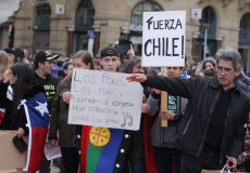 Chilean Community Protest in Amsterdam