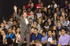 US Senator Janet Kay Hagan, North Carolina introduces Hillary Clinton and Michelle Obama at a presidential campaign event in North Carolina - 27 Oct 2016