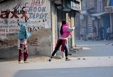 Protesters clashed with government forces in Srinagar, India - 29 Oct 2019