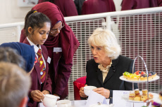 Camilla Duchess of Cornwall visit to the Mulberry School for Girls in Whitechapel, London, UK - 30 Oct 2019