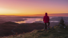 A stunning autumn sunrise in the Lake District