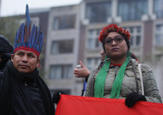 Indigenous Leaders From Brazil Protest in Amsterdam