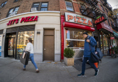 Pizza wars in Chelsea in New York