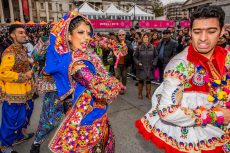 Diwali celebrations, Trafalgar Square, London, UK - 03 Nov 2019