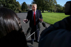 US President Donald Trump arrives back to the White House, Washington DC, USA - 03 Nov 2019