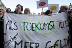 Netherlands: Teachers Attend A General Strike In Amsterdam