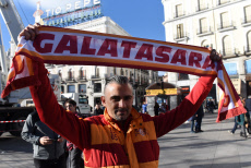 Galatasaray Fans in Madrid, Spain - 06 Nov 2019