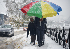 Fresh snowfall in Srinagar, India - 07 Nov 2019
