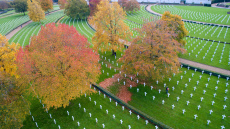 Remembrance Sunday preparations at the American War Cemetery, Madingley, UK - 04 Nov 2019