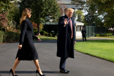 US President Donald Trump and First Lady Melania Trump depart the White House, Washington DC, USA - 09 Nov 2019