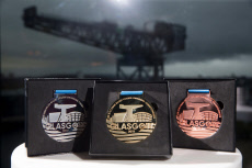 Unveiling of the Official Championship Medals for the LEN European Short Course Swimming Championship, Glasgow, Scotland, UK - 11 Nov 2019