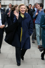 Hillary Clinton out and about, London, UK - 11 Nov 2019