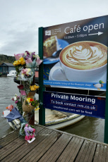 Floral tributes to Hannah Gibbs who was pulled from The River Thames in Marlow, UK - 12 Nov 2019