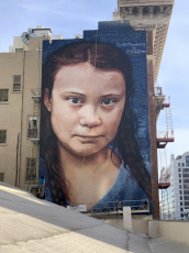 60-ft-tall Mural Of Environmental Activist Greta Thunberg Appears In San Francisco