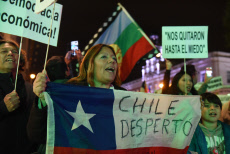 Chilean Nationals Protest in Madrid, Spain - 12 Nov 2019