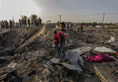 Aftermath of Israeli air strike in Gaza, Palestine  - 13 Nov 2019