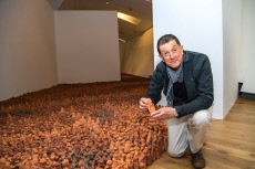 Antony Gormley 'Field for the British Isles' art installation, Colchester, Essex, UK - 15 Nov 2019