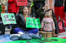 Extinction Rebellion protest outside BlackRock, London, UK - 15 Nov 2019
