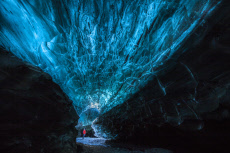 Naturally-formed ice caves
