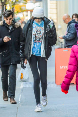 Kaia Gerber out and about, New York, USA - 15 Nov 2019