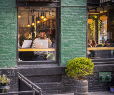 Free wi-fi and coffee in New York