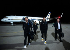 England Men's Senior Football Team Arrive at Pristina International Airport for their Euro 2020 Qualifiers football match against Kosovo tomorrow, Pristina International Airport, Pristina, Kosovo - 16 Nov 2019