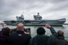 HMS Prince of Wales sails into Portsmouth, UK - 16 Nov 2019