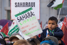 Saharawi people against Morocco's occupation in Madrid, Spain - 16 Nov 2019