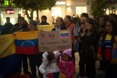 Venezuelans protest in Malaga, Spain - 16 Nov 2019